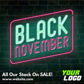 Black November instagram video advertisement Square (1:1) template