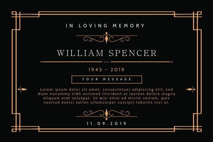Black Obituary Invitation Banner