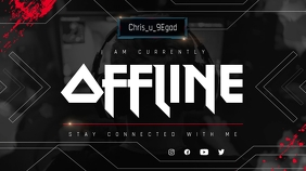 Black Offline Twitch Banner template
