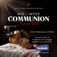 Black online communion service instagram post