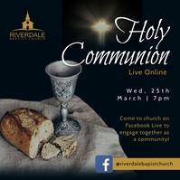 Black online holy communion service instagram