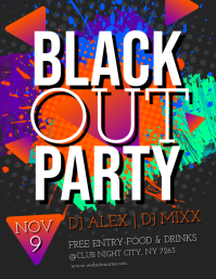 Black Out Party Flyer