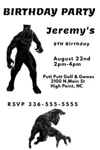 Black Panther Birthday
