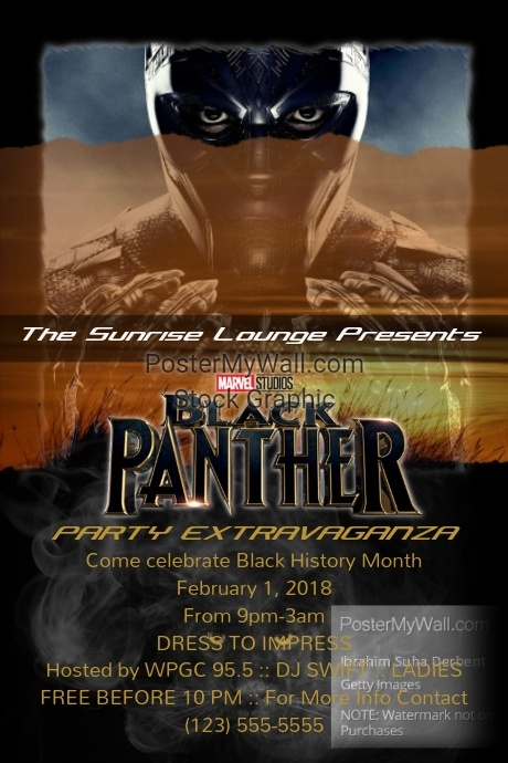 Black Panther Party Extravaganza Template Postermywall