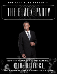 BLACK PARTY CLUB FLYER TEMPLATE