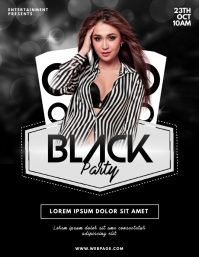 Black Party Flyer Design Template