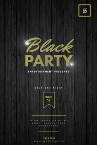 Black Party Flyer Template Poster