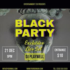 Black Party video ad facebook