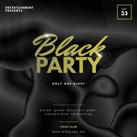 Black party video design template instagram
