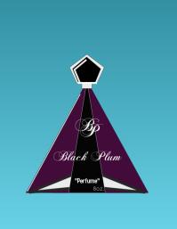 Black Plum Flyer (US Letter) template