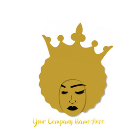Black Queen Logo Design template