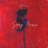black red rose mixtape cover design template Copertina album