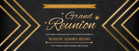 Black Regal College Reunion Banner Copertina Facebook template