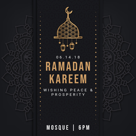 Black Regal Ramadan Iftar Instagram Invitation