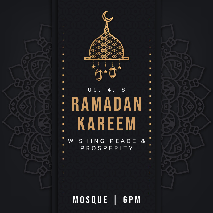 Black regal ramadan iftar instagram invitation template postermywall black regal ramadan iftar instagram invitation customize template stopboris Gallery