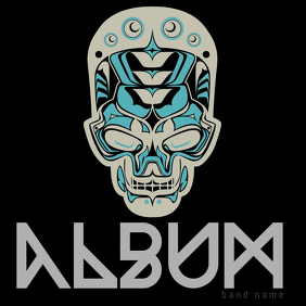 Black rock album template