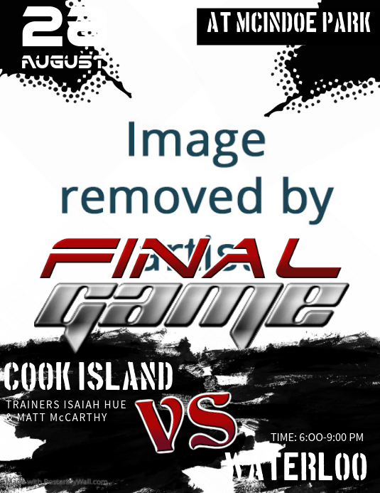 Black Rugby Finale Flyer Template