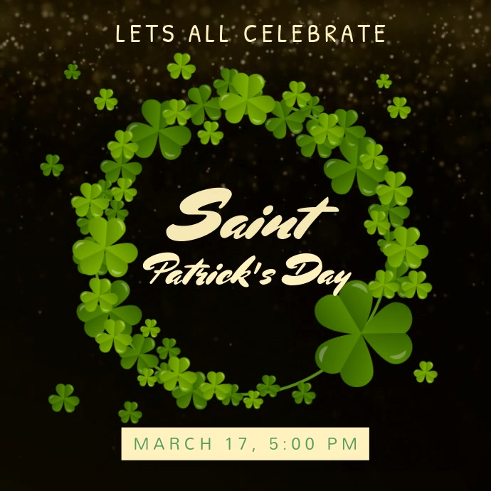 Black Saint patricks Celebration Video Template Pos Instagram