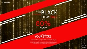 Black Sale Firday Season Red Banner Cover Ad template