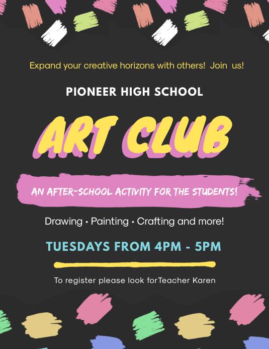 Black School Art Club Poster