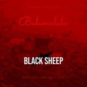 Black Sheep Mixtape CD Cover Template