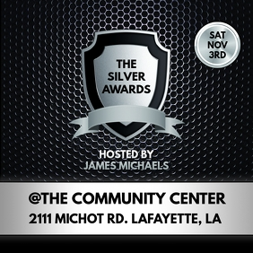 BLACK SILVER AWARDS SHOW FLYER TEMPLATE