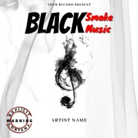 black Smoke Musi Mixtape/Album Cover Art