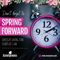 Black Spring Forward Instagram Image template