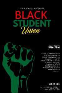 Black Student Union Flyer Design Template
