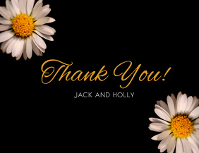 Black Thank You  Card Template