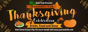Black Thanksgiving Facebook Cover Photo