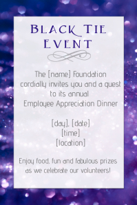 Black Tie Dinner Employee Appreciation, party template