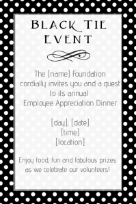 Black Tie Dinner Invitation Small Business Retail Flyer