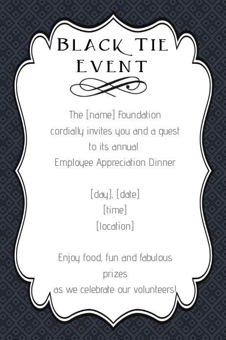 black tie event poster flyer fancy