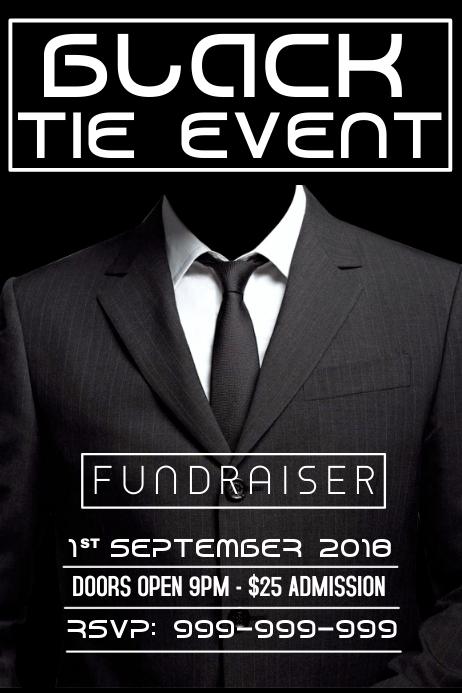 Black Tie Event Poster