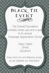 Black tie Formal Event dinner employee appreciation Gala