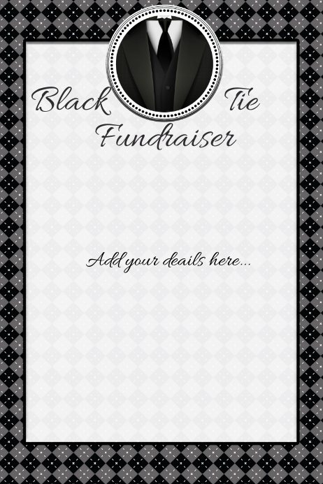 Black Tie Small Business Event Fundraiser Flyer