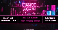 Black Wednesday Dance Facebook begivenhed cover template
