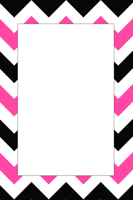 Black White & Pink Party Prop Frame