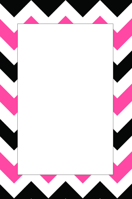 Black White & Pink Party Prop Frame Template | PosterMyWall