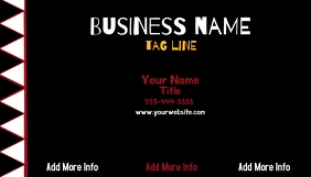 Black White Red Business Card