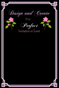 Black with Pink Border Template Poster