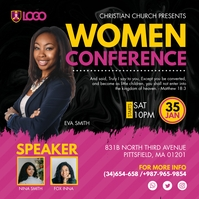 Black Women Church Conference Instagram Templ Instagram-Beitrag template