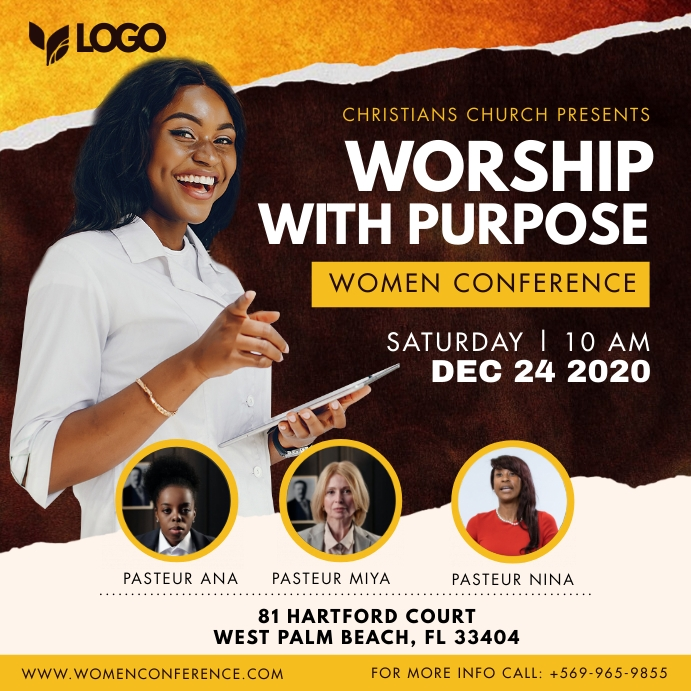Black Women Church Conference Panel Instagram template