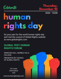 Blackboard Human Rights Day Event Invitation Folheto (US Letter) template