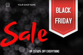 blackfriday flyer Poster template