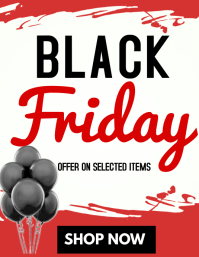 Blackfriday poster Iflaya (Incwadi ye-US) template