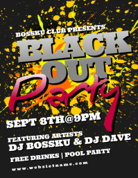 Blackout Party Flyer