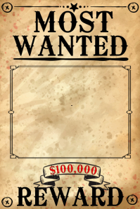 Customize Wanted Poster Templates | PosterMyWall