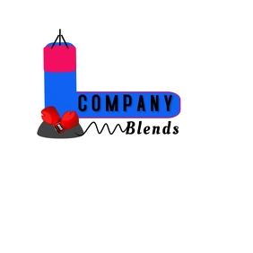 Blender Boxing Logo Logotyp template